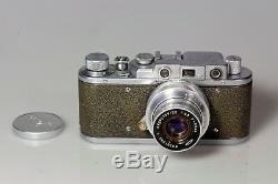 Télémétrique ZORKI 1C + industar 22 rigide. Rare double gravure. Leica copie