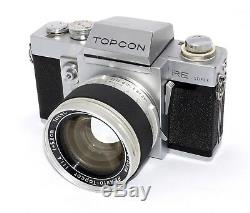 Très Beau Topcon RE-Super avec RE Auto-Topcor 58mm F1.4 très clean