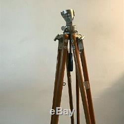Très rare trépied métal et laiton bois, Bolex Paillard années 1953