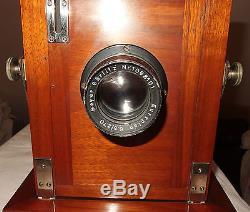 Unb. Reisekamera Balgenkamera Plattenkamera Kamera plate camera 18x24 mahagoni