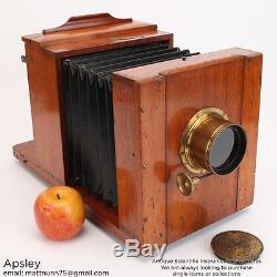 Very Fine English Wetplate Camera With a Landscape Lens Brass & Mahogany Finish