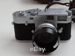 Vintage Leica M2 Camera with leica Summaron 128/35 Lens, Case c1959