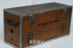 Vintage Old Wooden Mitchell Bnc Movie Camera Case Chevereau French Cinema