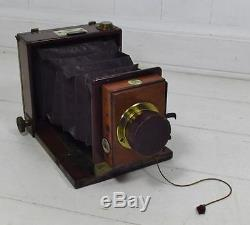 Vintage c1880 W. W. Rouch & Co. 1/4 Plate Tailboard Camera Wray Lens