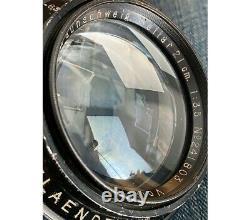 Voigtlander Heliar 3,5/21cm Used barrel lens very rare Covers 13X18