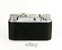 Voigtländer Prominent avec Voigtlander Color Skopar 3.5 50 mm 1950-1957 24x36