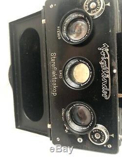 Voigtländer Stereflektoscope with Heliar lenses. 6x13 nr 110407