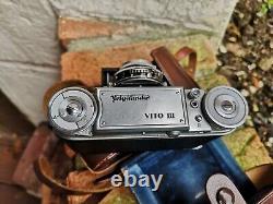 Voigtländer VITO III 35mm folding camera with 2/50 ULTRON, legendary lens 1950