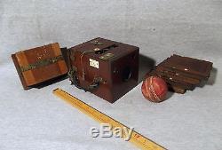 W. W. Rouch, Eastman Kodak, English / USA Antique Mahogany & Brass Plate Camera