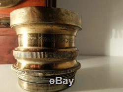 Wooden French Camera J. WAYANT (Ex Carpentier) with Early C. BERTHIOT brass lens