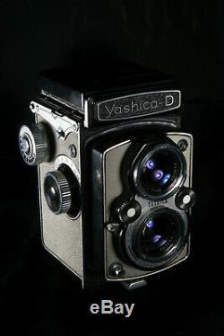 Yashica-D Reflex objectif Yashikor 80 mm f/3.5