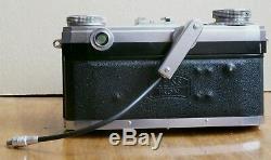 ZEISS IKON Contax IIa avec Sonnar 2/50 mm, filtre + câble spécial flash Zeiss