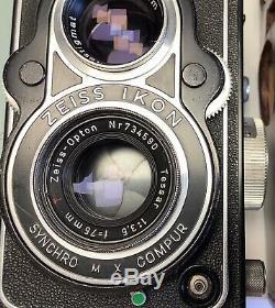 ZEISS IKON IKOFLEX II A TLR MOYEN FORMAT 6X6 OBJECTIF TESSAR f 3,5/75mm