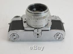 Zeiss Ikon Contarex #Z48714 mit Planar 2/50mm #2617165 + Zubehör jd077